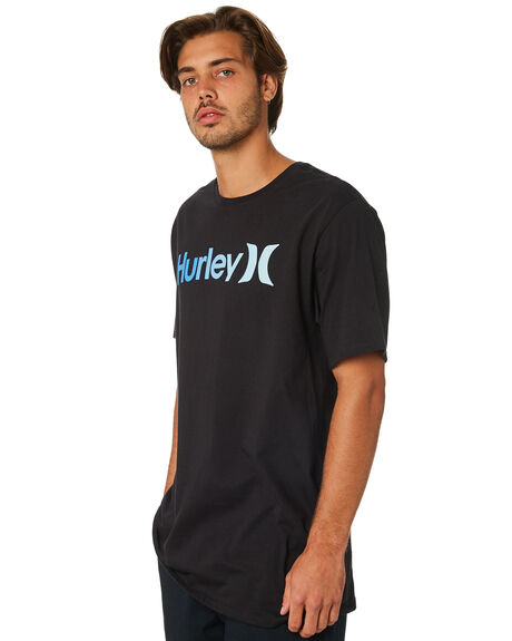 BLACK MENS CLOTHING HURLEY TEES - AR5484010