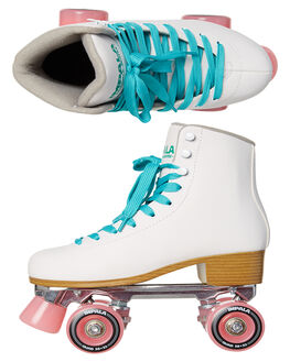 WHITE WOMENS FOOTWEAR IMPALA SNEAKERS - IMPROLLER-WHT