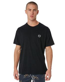BLACK MENS CLOTHING ZANEROBE TEES - 129-METBLK