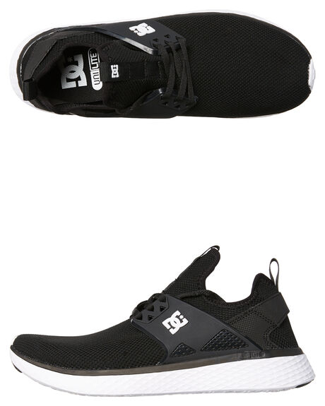 WHITE BLACK MENS FOOTWEAR DC SHOES SNEAKERS - ADYS700125BKW