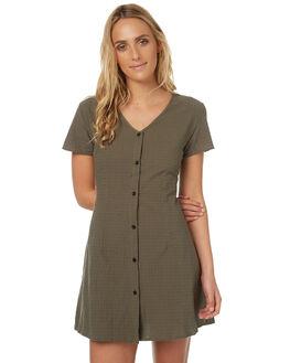 KHAKI WOMENS CLOTHING REVERSE DRESSES - 401-6KHAK