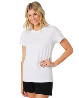 WHITE WOMENS CLOTHING AS COLOUR TEES - 4001WHITE