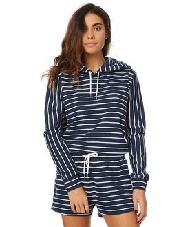 NAVY WHITE STRIPE WOMENS CLOTHING SWELL JUMPERS - S8173551NVSTR