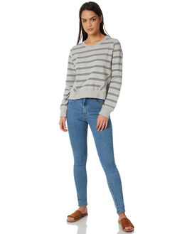GREY STRIPE WOMENS CLOTHING ALL ABOUT EVE JUMPERS - 6423006GRY