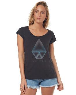 BLACK WOMENS CLOTHING VOLCOM TEES - B3541704BLK
