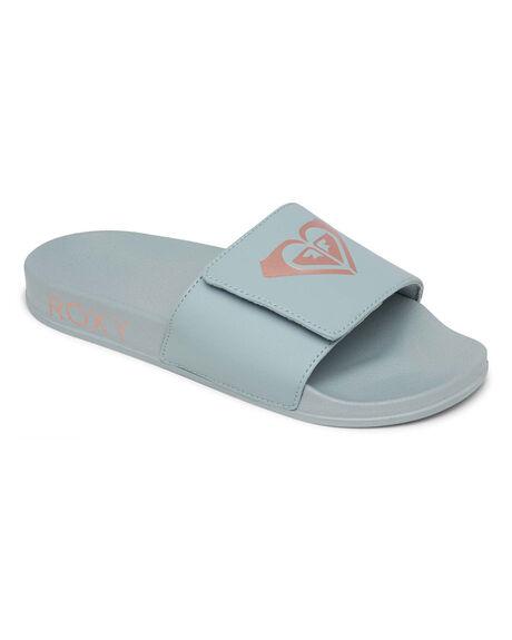 BLUE HAZE WOMENS FOOTWEAR ROXY SLIDES - ARJL100856-BHZ