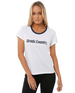 WHITE WOMENS CLOTHING AFENDS TEES - 50-01-139WHT
