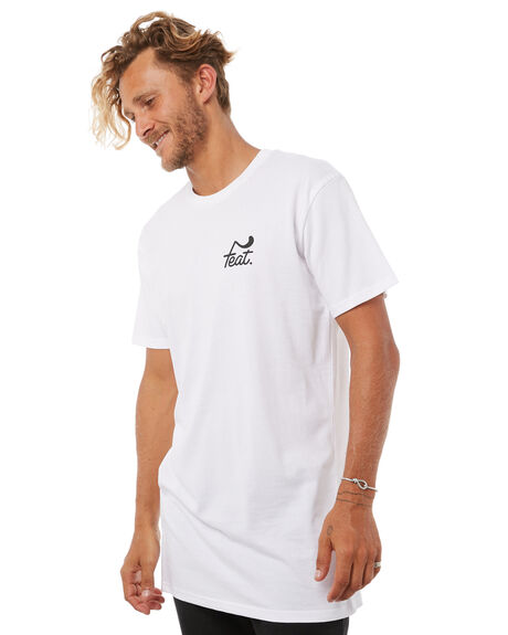 WHITE MENS CLOTHING FEAT TEES - FTTTLOG01WHI