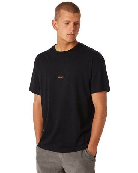 BLACK MENS CLOTHING GLOBE TEES - GB01810034BLK