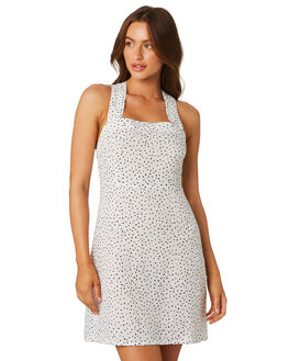 WHITE POLKA WOMENS CLOTHING SAINT HELENA DRESSES - SHSP19415AWHITE