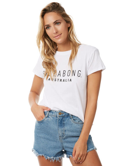 WHITE WOMENS CLOTHING BILLABONG TEES - 6572015WHT