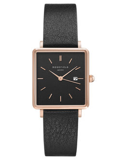 BLACK BLACK ROSEGOLD WOMENS ACCESSORIES ROSEFIELD WATCHES - QBBR-Q10BKBKR