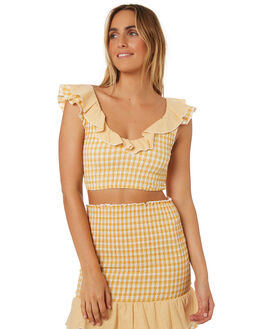 YELLOW WOMENS CLOTHING MINKPINK FASHION TOPS - MP1806509YEL