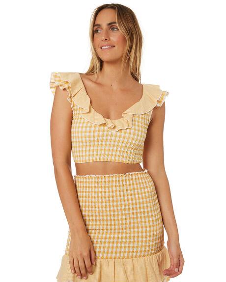YELLOW WOMENS CLOTHING MINKPINK FASHION TOPS - MP1806509YEL