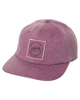 BURGUNDY MENS ACCESSORIES STUSSY HEADWEAR - ST777003BUR