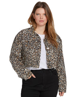 ANIMAL PRINT WOMENS CLOTHING VOLCOM JACKETS - B1931905PANM