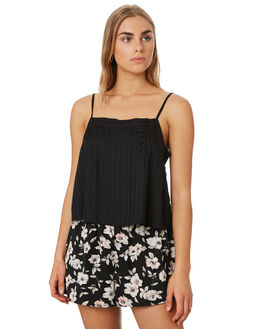 BLACK OUTLET WOMENS VOLCOM FASHION TOPS - B0441909BLK