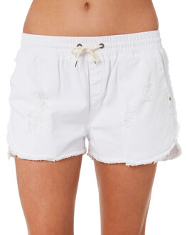 WHITE WOMENS CLOTHING RIP CURL SHORTS - GWAEH11000