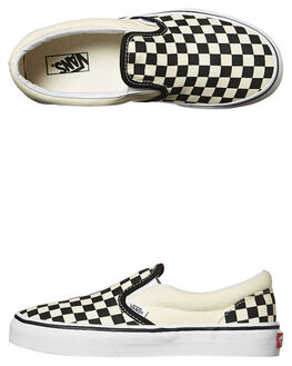 BLACK WHITE CHECK KIDS BOYS VANS SNEAKERS - VN-0ZBUEO1BLKW