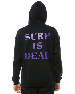 BLACK MENS CLOTHING SURF IS DEAD JUMPERS - SD17HD4-03BLK