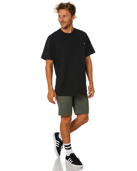 BLACK MENS CLOTHING DICKIES TEES - WS450BK