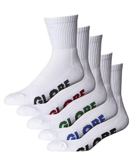 WHITE MENS CLOTHING GLOBE SOCKS + UNDERWEAR - GB71219027WHI