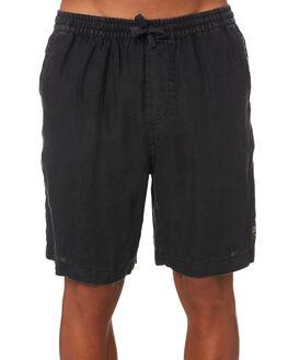 BLACK MENS CLOTHING THE PEOPLE VS SHORTS - SS19057-BLKBLK