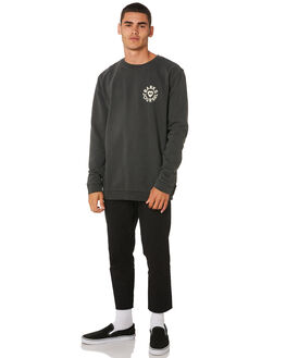 DIRTY BLACK MENS CLOTHING BANKS JUMPERS - WFL0176DBL