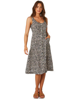 NAVY FLORAL WOMENS CLOTHING RHYTHM DRESSES - QTM19W-DR28NAVY