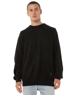 BLACK MENS CLOTHING THE PEOPLE VS KNITS + CARDIGANS - AW18067BLK