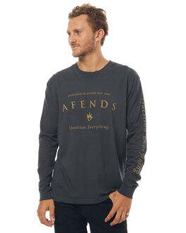 FADED BLACK MENS CLOTHING AFENDS TEES - 02-02-068FBLK