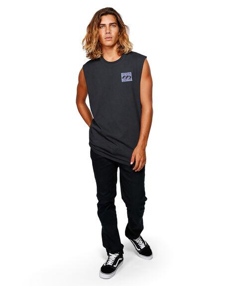 BLACK MENS CLOTHING BILLABONG SINGLETS - BB-9592505-BLK