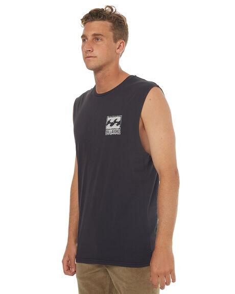 BLACK MENS CLOTHING BILLABONG SINGLETS - 9572505BLK