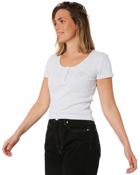 WHITE WOMENS CLOTHING STUSSY TEES - ST102103WHT