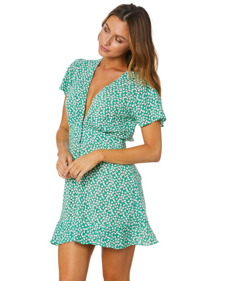 FLORAL WOMENS CLOTHING RUE STIIC DRESSES - EXC-SST-01-1-DF-VRFL