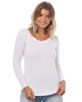 MARSHMELLOW WOMENS CLOTHING ROXY TEES - ERJZT04015WBT0