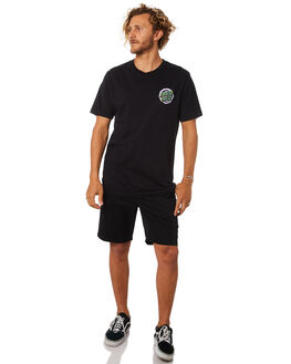 BLACK MENS CLOTHING SANTA CRUZ TEES - SC-MTC8926BLACK