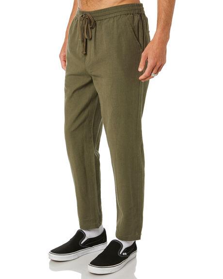 HEMP OLIVE MENS CLOTHING DEPACTUS PANTS - D5211191HMPOL