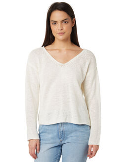 WHITE WOMENS CLOTHING MINKPINK KNITS + CARDIGANS - MP1708801ZWHI