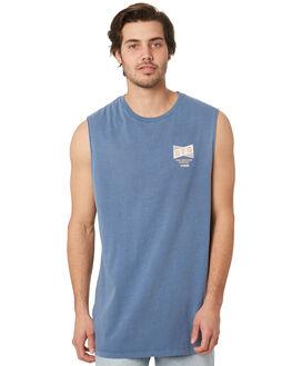 BLUE OUTLET MENS ST GOLIATH SINGLETS - 4341057BLU