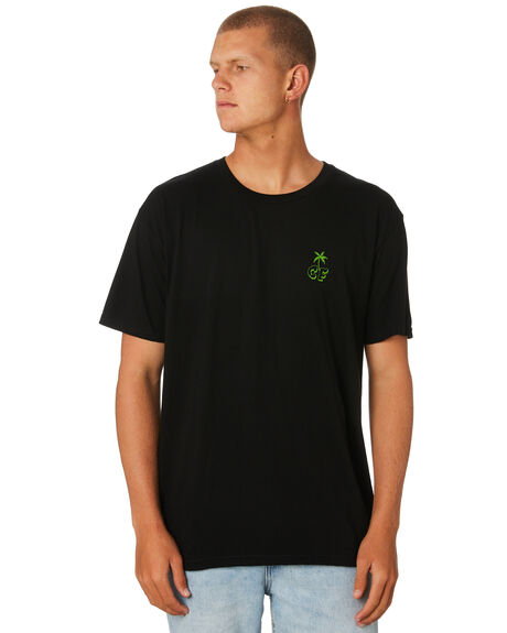 BLACK MENS CLOTHING CAPTAIN FIN CO. TEES - CT184011BLK
