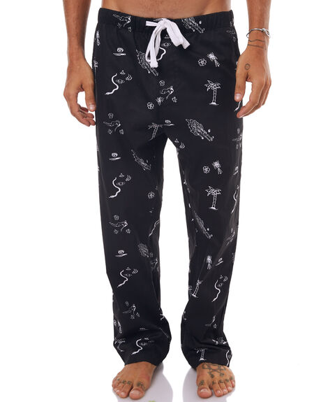 BLACK MENS CLOTHING SWELL PANTS - S5174421BLK
