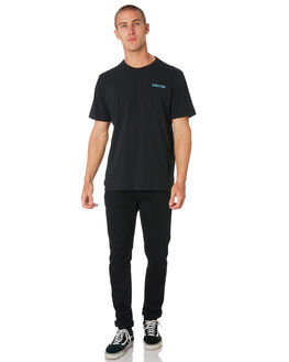 BLACK DUSTY AQUA MENS CLOTHING VOLCOM TEES - A52318G0BLKAQ