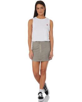 WHITE WOMENS CLOTHING RVCA SINGLETS - R282003WHI