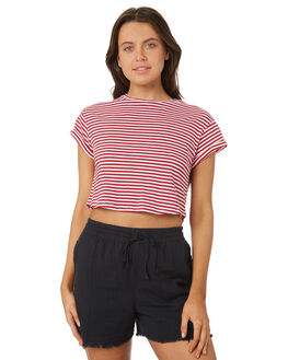 RED WHITE WOMENS CLOTHING SILENT THEORY TEES - 6070064CRM