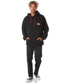 BLACK MENS CLOTHING MISFIT JUMPERS - MT005202BLK
