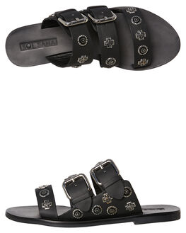 BLACK WOMENS FOOTWEAR SOL SANA FASHION SANDALS - SS182S409BLK
