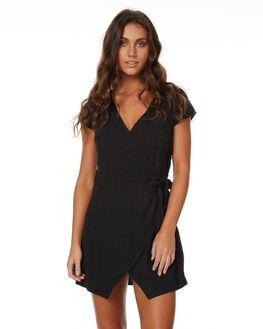 BLACK WOMENS CLOTHING RHYTHM DRESSES - JUL17G-DRS01BLACK