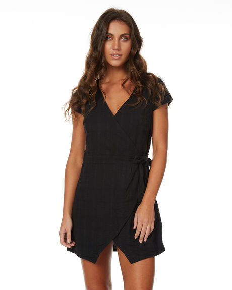 BLACK WOMENS CLOTHING RHYTHM DRESSES - JUL17G-DRS01BLACK
