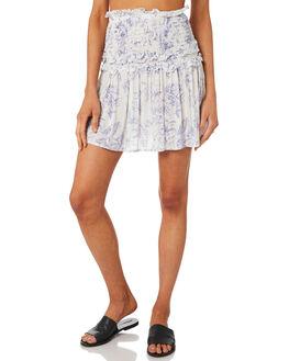 WHITE BLUE WOMENS CLOTHING MINKPINK SKIRTS - MP1808442WHTBL